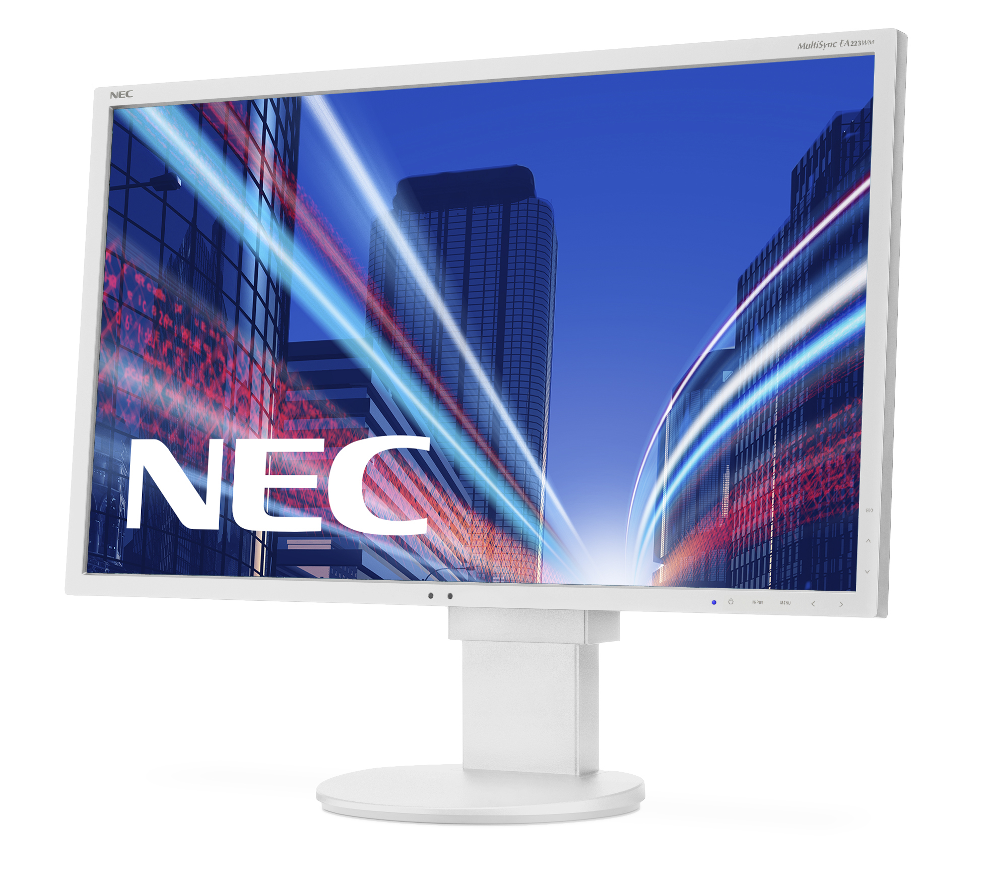 Desktop Monitor - Multisync Ea223wm - 22in - 1920x1080 (full Hd) - White With Adjustable Stand