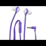 HP H2310 Purple In-ear Headset In-ear Binaural Wired Purple mobile headset