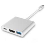 4XEM 4XUSBCHUB01 notebook dock/port replicator Wired USB 3.2 Gen 1 (3.1 Gen 1) Type-C Gray, White