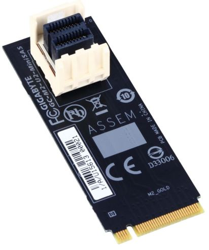 Gigabyte M2-U2-MINISAS M.2 to U.2 Mini SAS Add-on Card Adapter for Intel 2.5' SSD NVMe PCIe 3.0 Gen3x4 SFF-86
