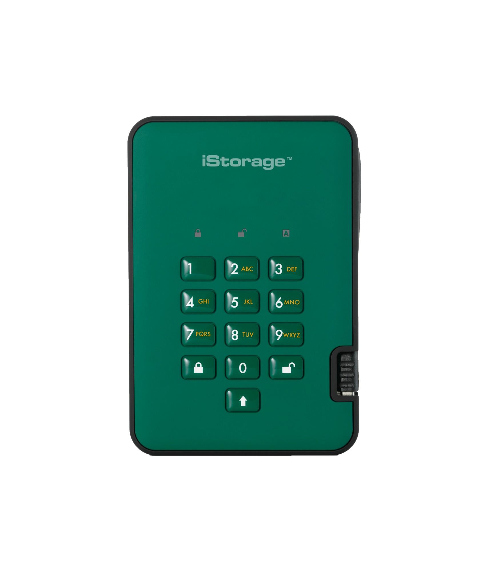 iStorage diskAshur 2 2000GB Green IS-DA2-256-SSD-2000-GN