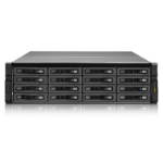 QNAP REXP-1620U-RP disk array 16 TB Rack (3U) Black