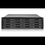 QNAP REXP-1620U-RP disk array 16 TB Rack (3U) Black