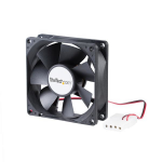 StarTech.com 80x25mm Ventilator voor Computerbehuizing met Dubbele Kogellagers en LP4 Connector