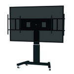 """Newstar PLASMA-M2500BLACKMS 100"""" Portable flat panel floor stand Black flat panel floorstand"""