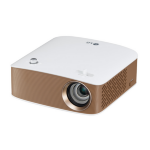 LG PH150G Portable projector 130lúmenes ANSI LCOS 720p (1280x720) Oro, Color blanco video proyector dir