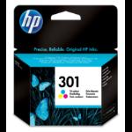 HP 301 Tri-color Ink Cartridge Origineel Cyaan, magenta, Geel
