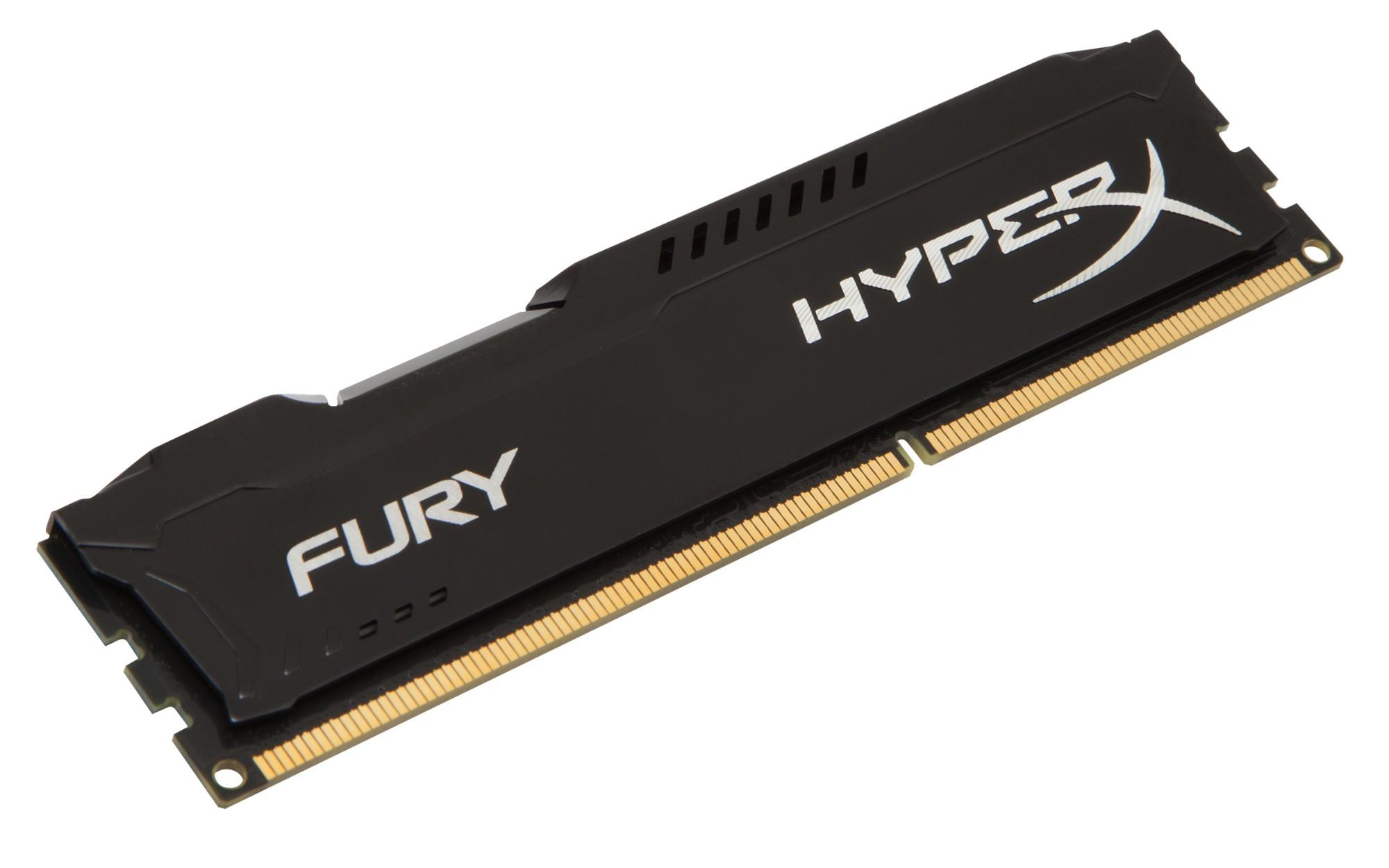 HyperX FURY Black 4GB 1600MHz DDR3 memory module