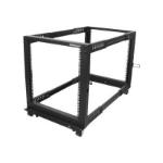 StarTech.com 4POSTRACK12U rack cabinet 12U Freestanding rack Black