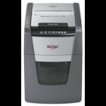 Rexel Optimum AutoFeed+ 100M paper shredder Micro-cut shredding 55 dB 22 cm Black, Silver
