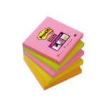 Post-It 654S-N self-adhesive note paper Square Green, Orange, Pink, Yellow 90 sheets