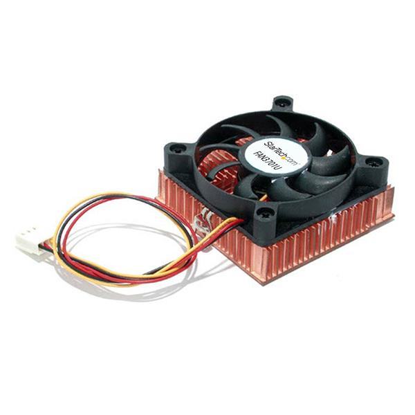 StarTech.com 1U 60x10mm Socket 7/370 CPU Cooler Fan w/ Copper Heatsink & TX3 FAN3701U