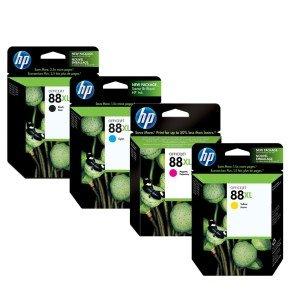 HP 88XL CMYK Ink Cartridge Bundle