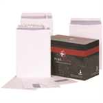 Plus Fabric Envelopes Pocket Peel and Seal 120gsm C4 White Retail Pack [Pack 25]