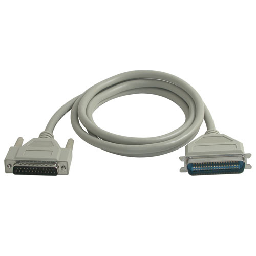 C2G 1m IEEE-1284 DB25/C36 Cable printer cable Grey
