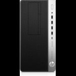 HP ProDesk 600 G5 9th gen Intel® Core™ i5 i5-9500 8 GB DDR4-SDRAM 1000 GB HDD Micro Tower Black PC Windows 10 Pro