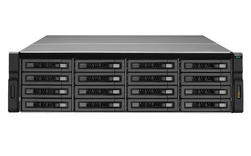 QNAP REXP-1620U-RP 128TB (16x 8TB Seagate Exos Enterprise HDD) disk array Rack (3U) Black,Silver