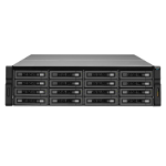 QNAP REXP-1620U-RP 128TB (16x 8TB Seagate Exos Enterprise HDD) disk array Rack (3U) Black,Silver
