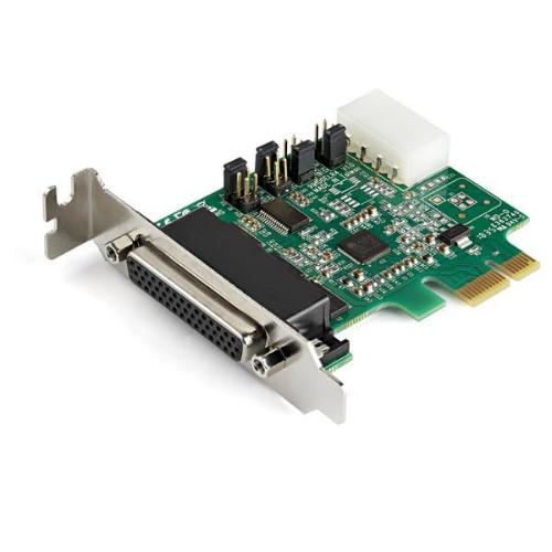 StarTech.com 4-Port PCI Express RS232 Serial Adapter Card - 16950 UART - 256-byte FIFO Cache - ASIX AX99100 - Low Profile Bracket - Replacement for PEX4S952LP (PEX4S953LP)