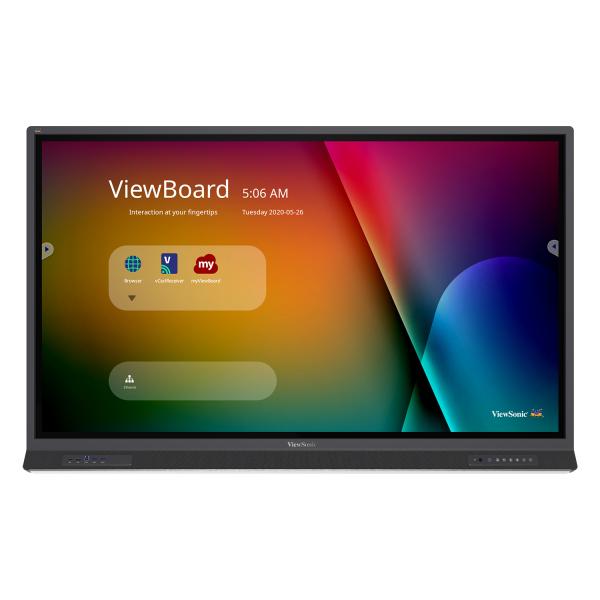 "Viewsonic IFP6552-1A interactive whiteboard 165.1 cm (65"") 3840 x 2160 pixels Touchscreen Black HDMI"