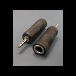 Microconnect AUDALT cable gender changer 3.5mm 6.3mm Black
