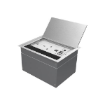 Vision TABLE/FLOOR MOUNTED BACKBOX, DOUBLE-GANG SURROUND INCLUDED - Attractive aluminium chassis for flush-