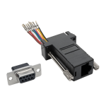 Tripp Lite DB9 to RJ45 Modular Serial Adapter (F/F), RS-232, RS-422, RS-485