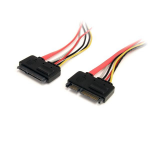 StarTech.com 12in 22 Pin SATA Power and Data Extension Cable SATA22PEXT
