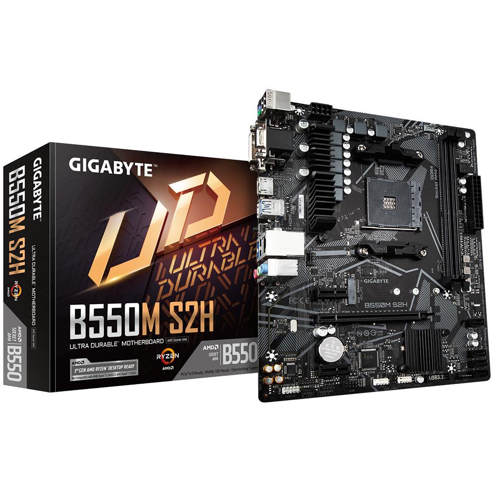 Gigabyte B550M S2H Socket AM4 micro ATX AMD B550