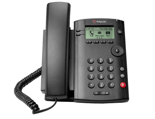 Polycom VVX 101 IP phone Black Wired handset LCD 1 lines