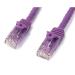 StarTech.com Cat6 patch cable with snagless RJ45 connectors – 3 ft, purple
