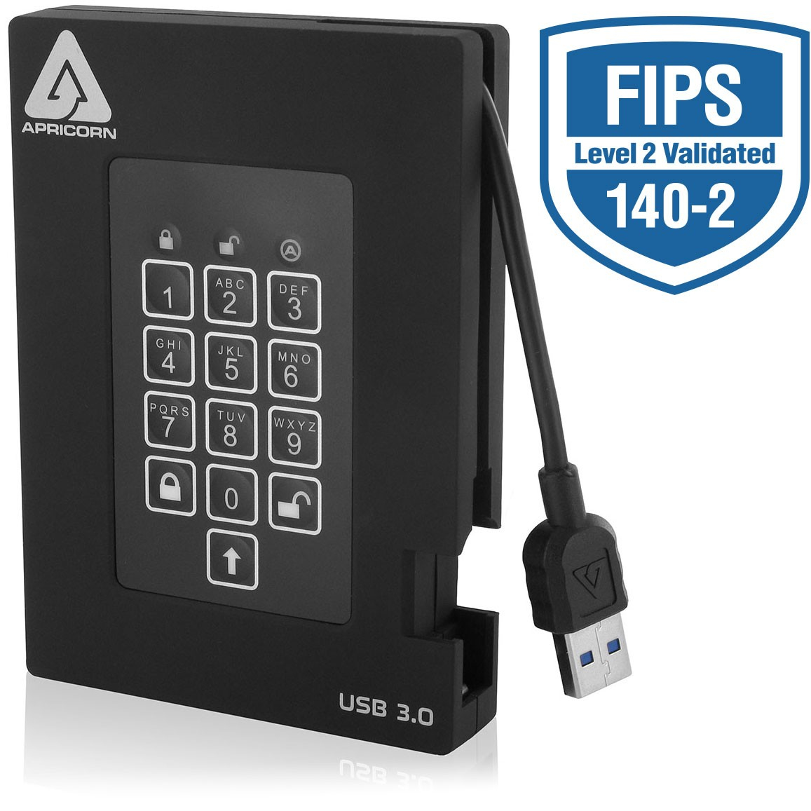 Aegis Padlock Fortress 2TB / USB 3.0 With Pin