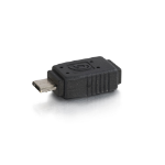 C2G 81689 Mini (B) F Micro (B) M Black cable interface/gender adapter