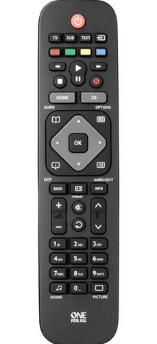 One For All URC 1913 IR Wireless Press buttons Black, Grey remote control