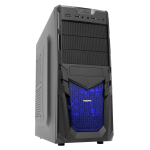 CIT Venom Mesh Gaming Case Black Interior 12cm Blue LED Fan