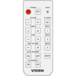 Vision AV-1800 RC IR Wireless White remote control