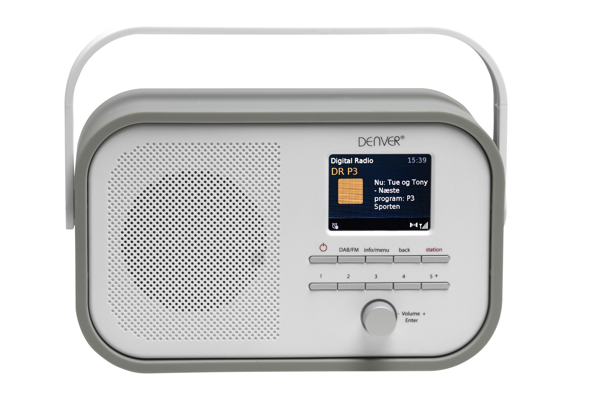 Denver Electronics DAB-40GREY Portable Digital radio