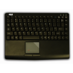 Adesso Slim Touch Mini Keyboard with built in Touchpad (Black) USB QWERTY Black keyboard