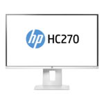 """HP HC270 Healthcare Edition 27"""" Wide Quad HD IPS White computer monitor"""