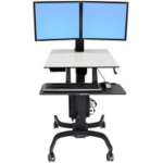 Ergotron WorkFit-C, Dual Sit-Stand Flat panel Multimedia cart Black,Grey