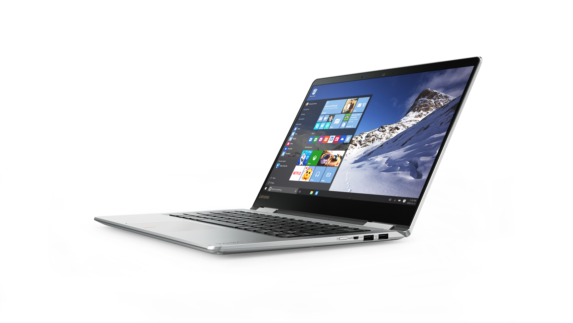 "Lenovo Yoga 710 Silver Hybrid (2-in-1) 35.6 cm (14"") 1920 x 1080 pixels Touchscreen 7th gen Intel®"
