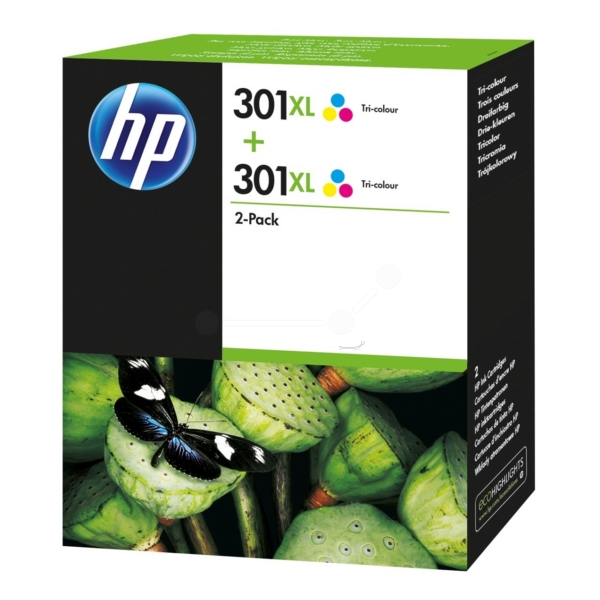 HP D8J46AE (301XL) Printhead color, 330 pages, 8ml, Pack qty 2
