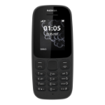 "Nokia 105 1.8"" 73g Black Feature phone"