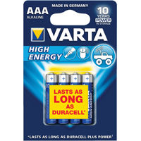 Varta HIGH ENERGY BATTERY AAA PK 4