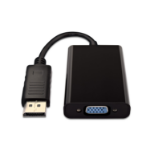 V7 Black Video Adapter DisplayPort Male to VGA Female + 3.5 Audio