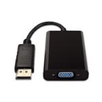 V7 Adattatore video nero da DisplayPort maschio a VGA femmina + audio 3.5