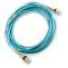 Hewlett Packard Enterprise LC to LC Multi-mode OM3 2-Fiber 5.0m 1-Pack cable de fibra optica 5 m Azul
