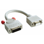 Lindy DVI-A/VGA FM cable, 0.2m VGA (D-Sub) Grey