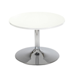 Arista White 800mm Low Bistro Table with Trumpet Base KF838812