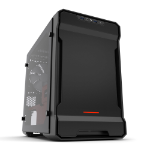 Phanteks Enthoo Evolv ITX Tempered Glass Black, Red computer case